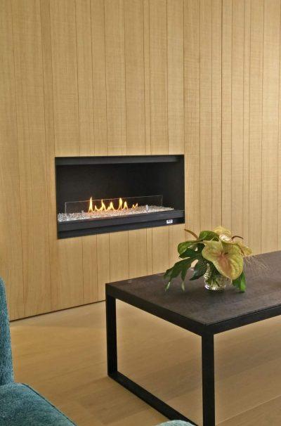 bioethanol fireplace cassette in wall