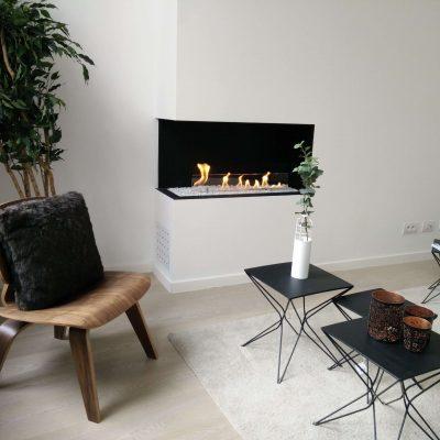 bioethanol fireplace corner setting