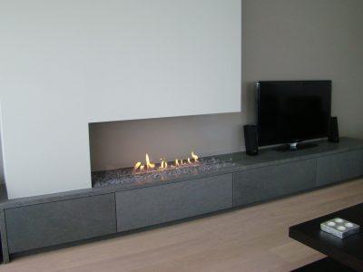 bioethanol fireplace open setting